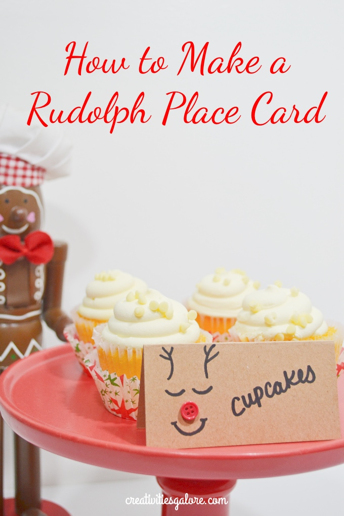 How to Make a Rudolph Place Card