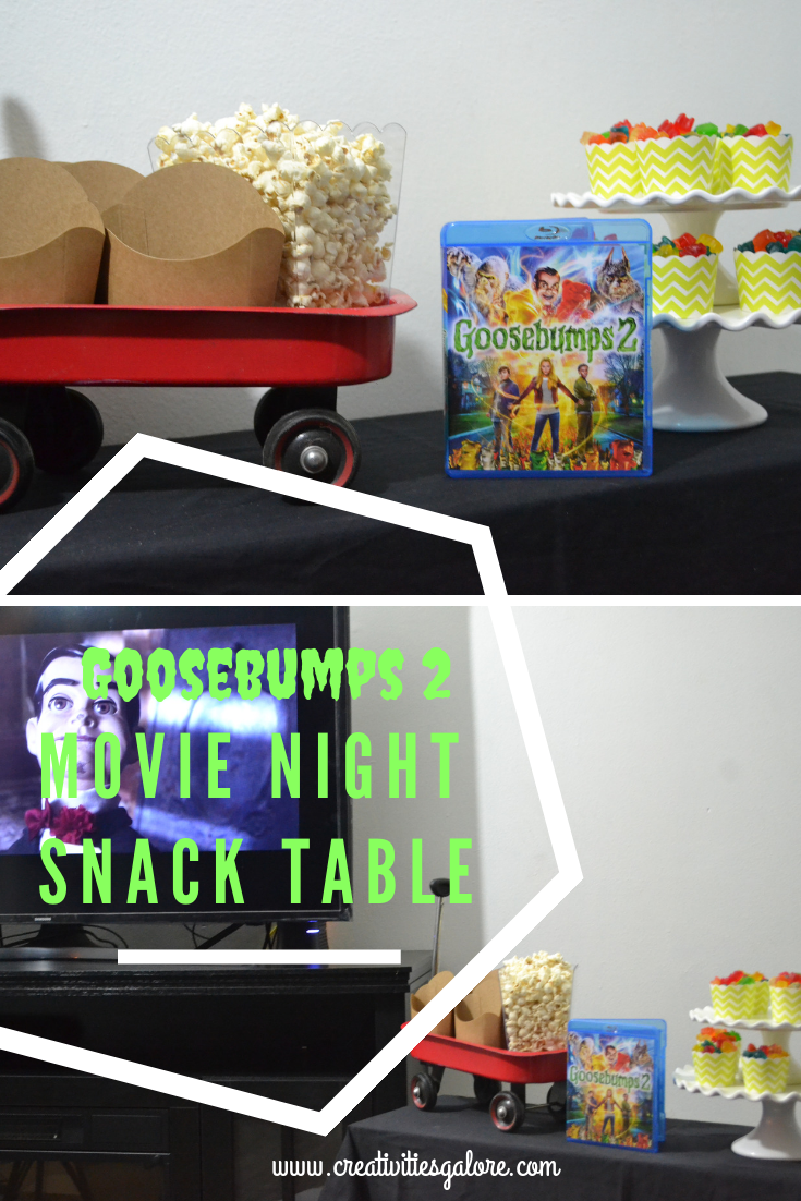How to set up your Goosebumps 2 movie night snack table