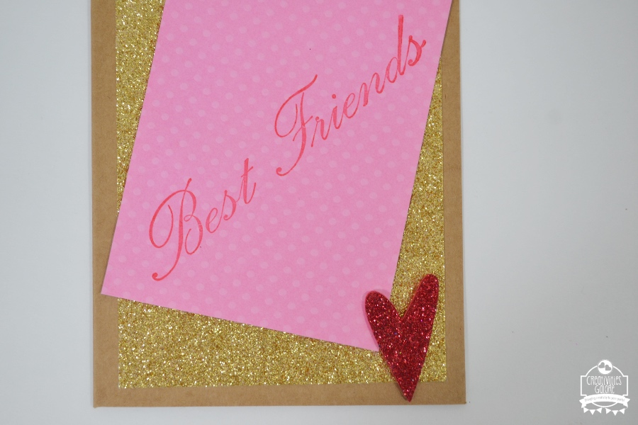 Send a Card to a Friend Day is on February 7th so make your close friend or friends a card inspired by this one and mail it out to them.