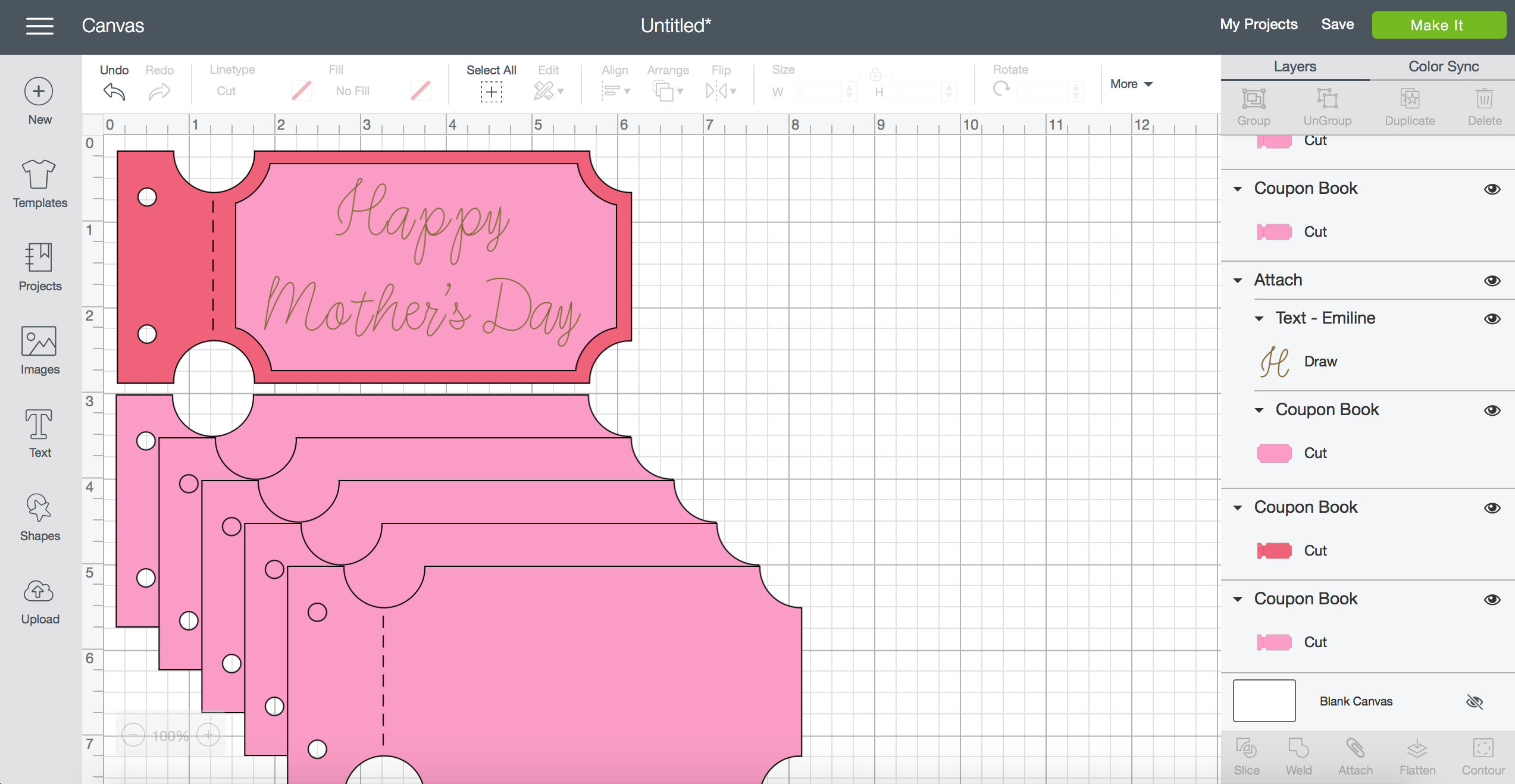 How to Make a Mother's Day Coupon Book with your Cricut