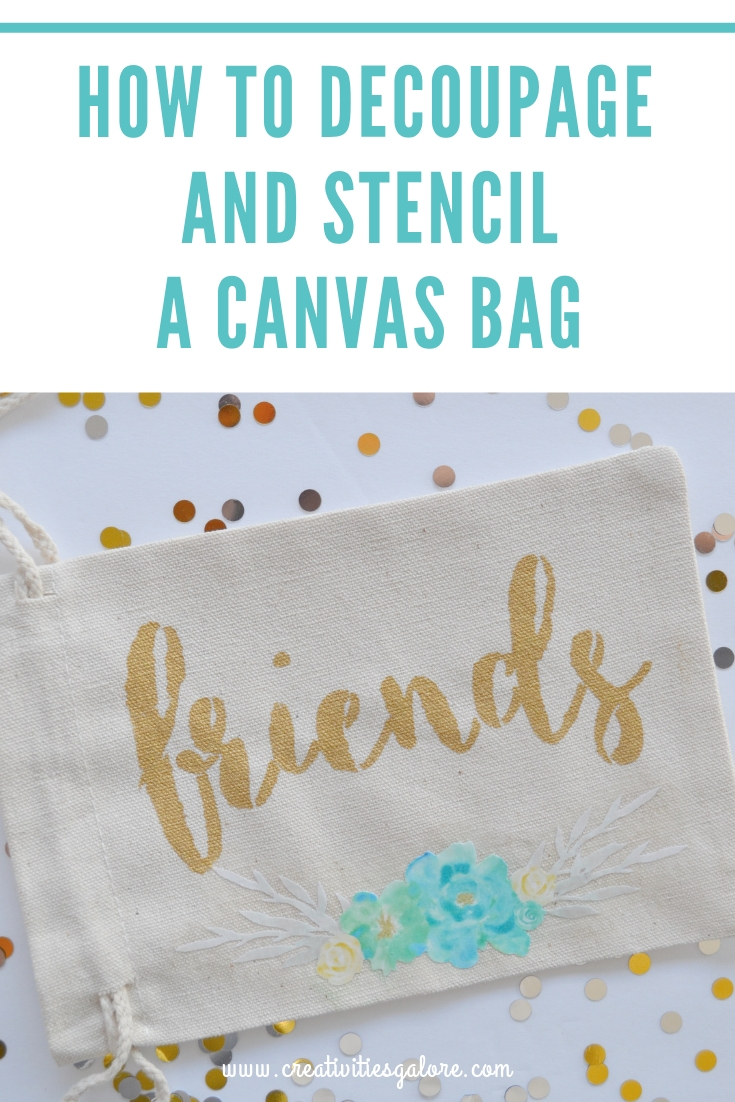 How to Stencil and Decoupage a Canvas Bag