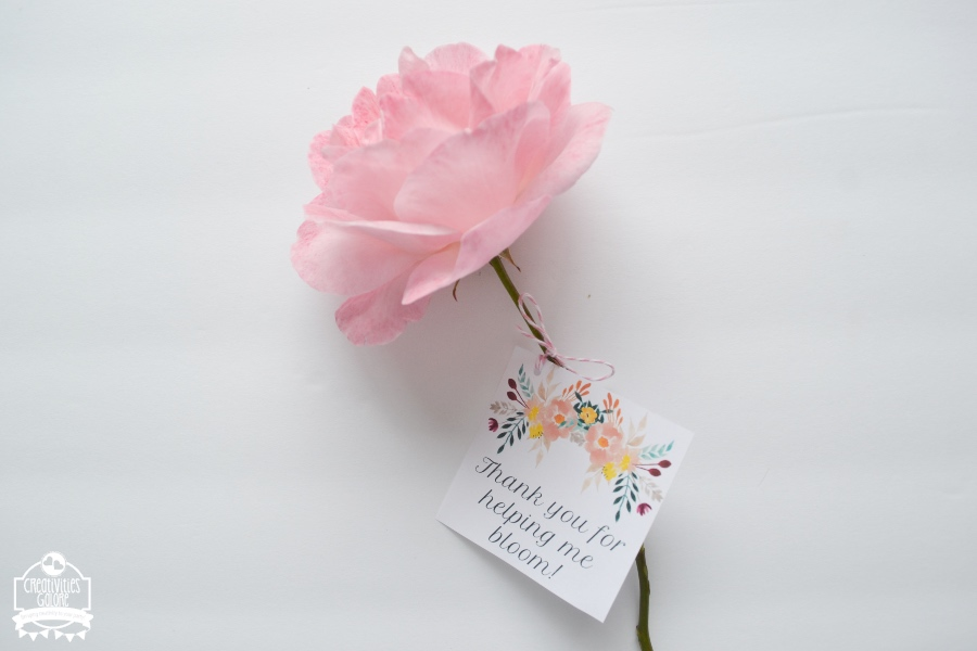 floral teacher appreciation tags