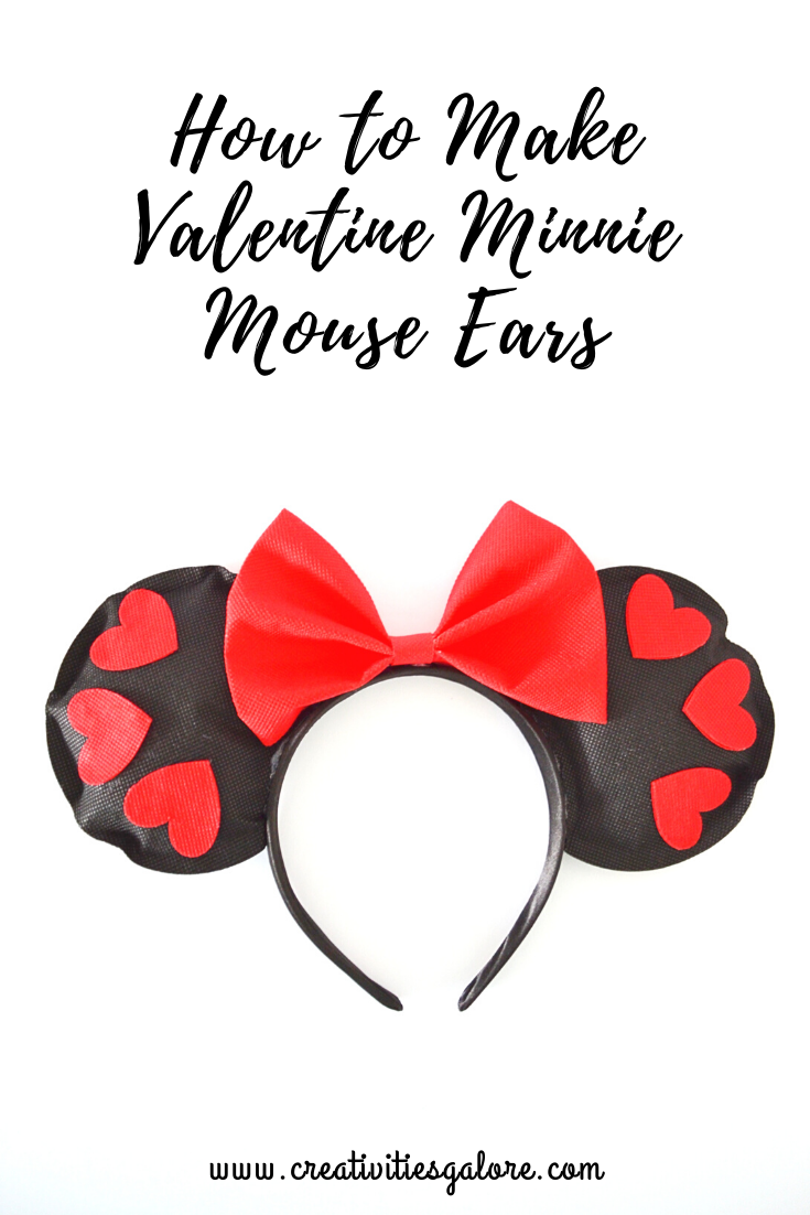 How to Make Valentine Minnie Mouse Ears