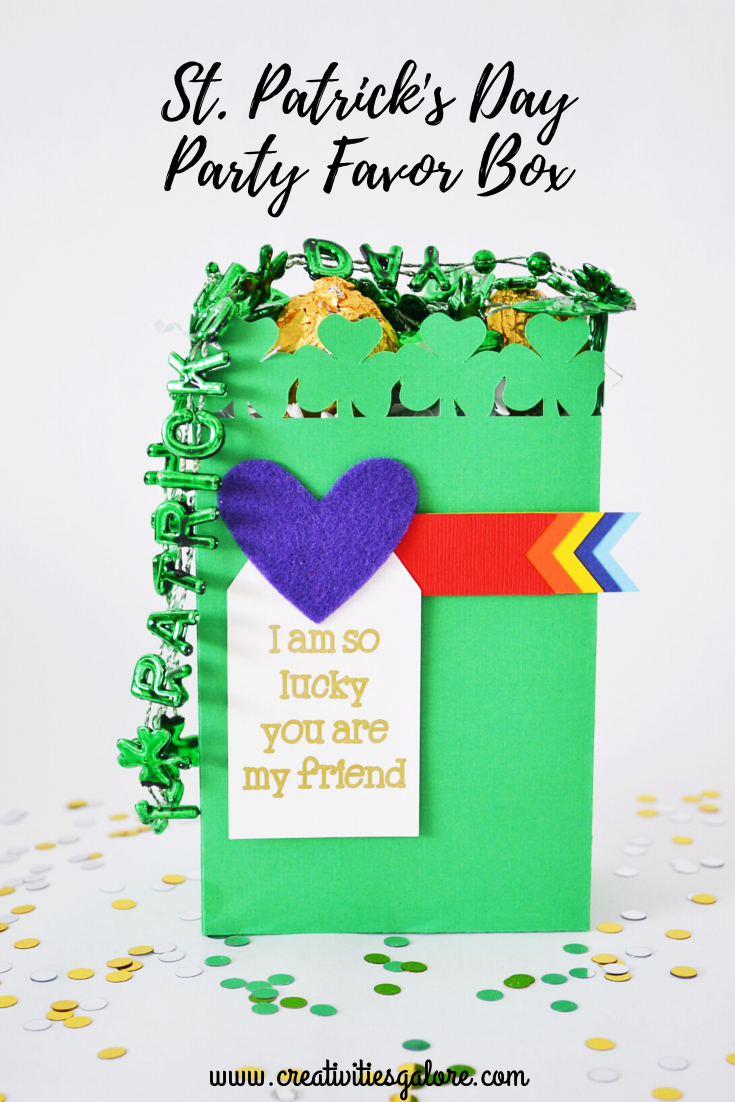 Your kid's friends will feel so special when they recieve this St Patrick's Day party favor. Gather your kids and let them help you make this easy favor box