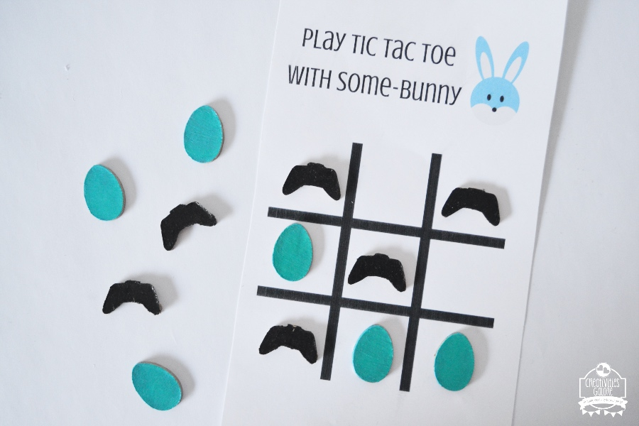 gamer easter tic-tac-toe game