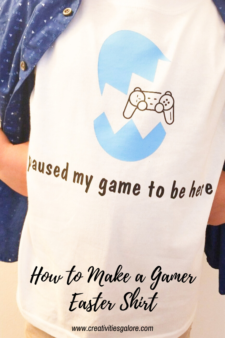 How to Make a Gamer Easter Shirt