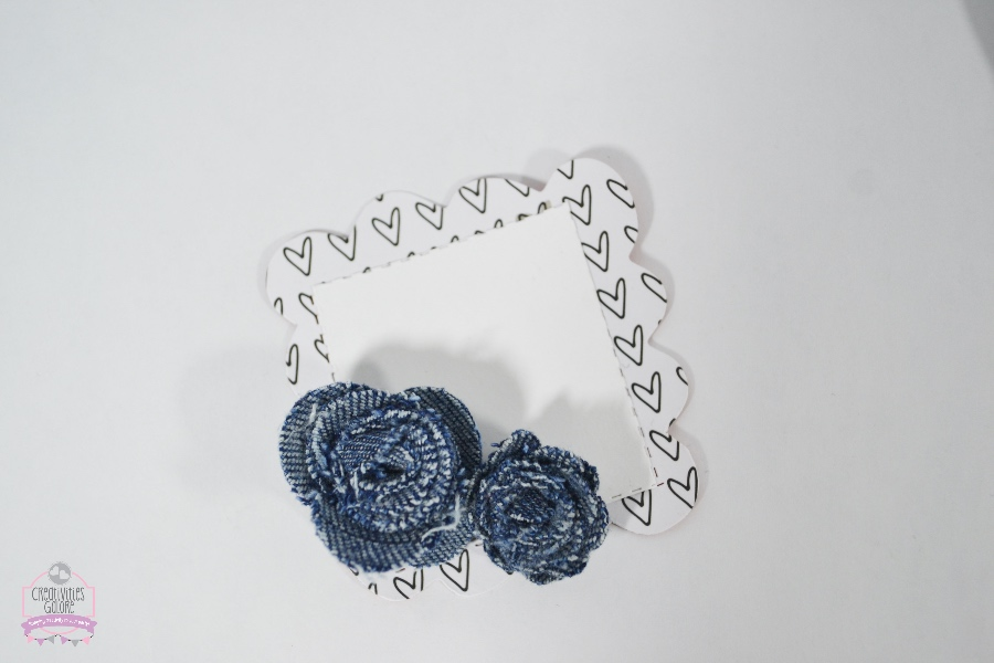 recycled jean roses