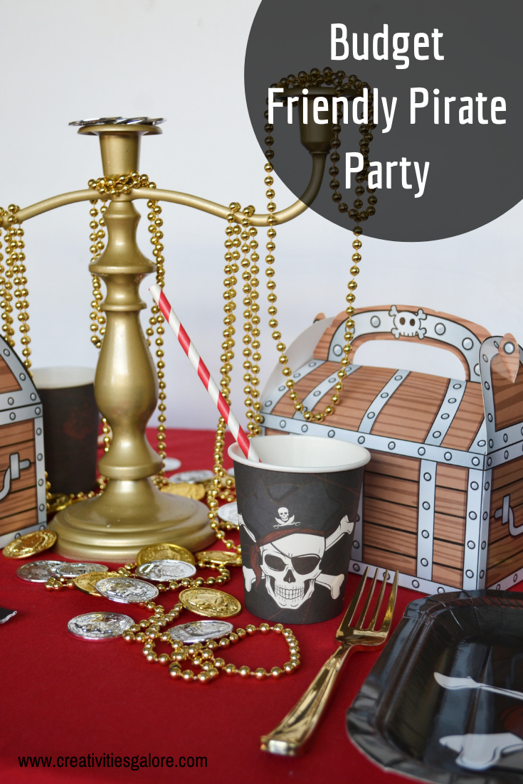 Are you planning a pirate party? I have some inspiration along with links to put together a budget friendly pirate party.